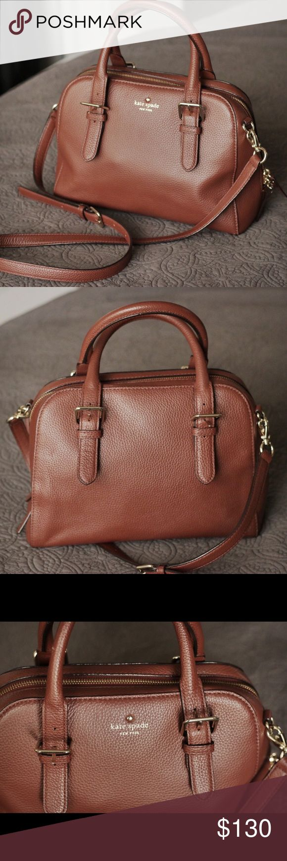"Kate Spade Brighton Park Pebble Leather Satchel This is the perfect every day bag! The color is a beautiful warm, roast brown. 10.3""L x 8.4""H x 4.5""W kate spade Bags Satchels"