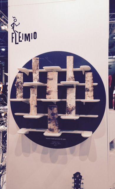 """Fleimio """"log shelf"""" / Maison & Objet Paris Sep 2015"""