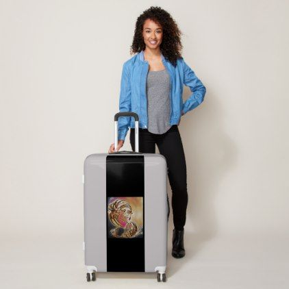 Henna girl  luggage - girl gifts special unique diy gift idea