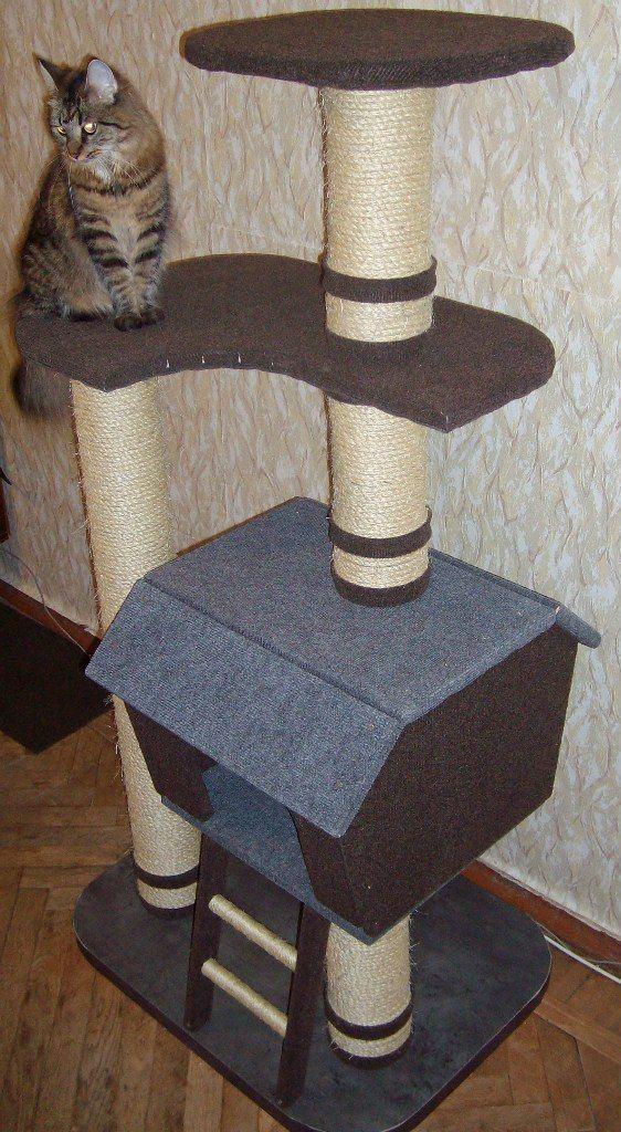 Строим кошачий домик