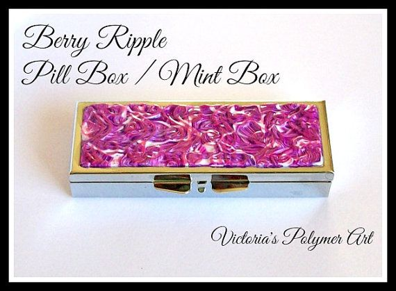 Pill Box / Mint Box  3 Compartments in by VictoriasPolymerArt, £7.25