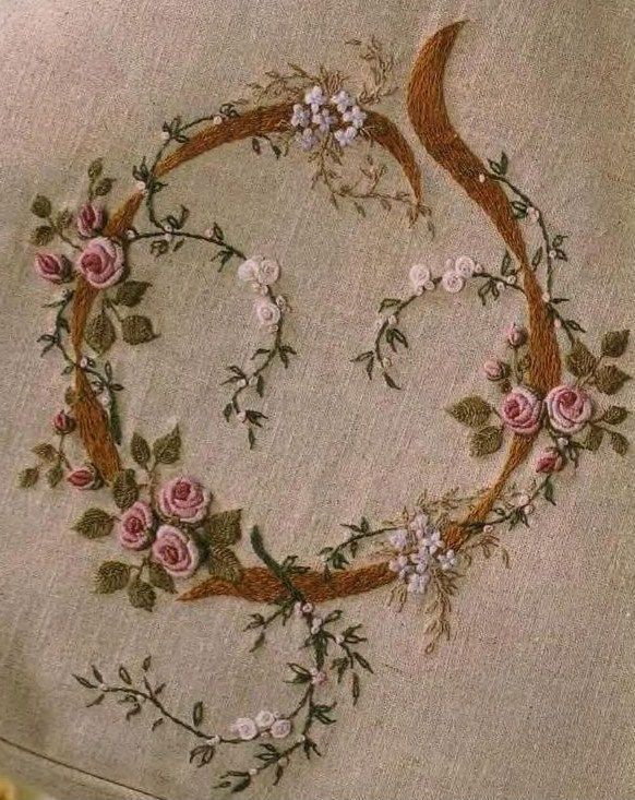 :: Crafty :: Stitch :: Embroidery on purse by Kris Richards and featured in an issue of Australian Inspirations Magazine - lots of her beautiful bullion roses and fly stitch leaves.