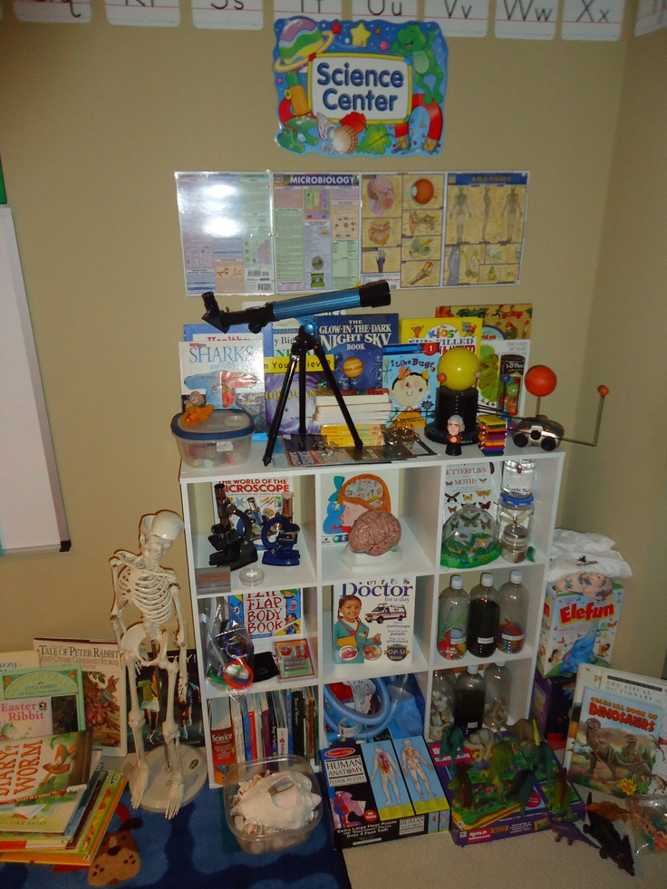 This is my preschool Science Center at Rose's Early Learners in Blue Springs, MO. 816-522-6137