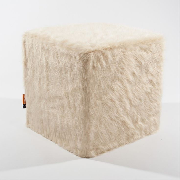 CubeMaker® - Eisbär Designcube Sitzwürfel. #fell #fur #cube #furniture #möbel #design #icebear #eisbär