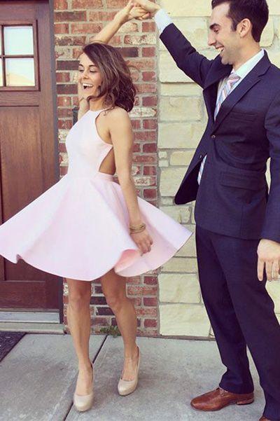 Homecoming Dresses,Prom Dresses Short,Graduation Dresses,Pink Prom Gowns,Simple Graduation Dress for Girls,Pink Short Prom Dress,Cute Homecoming Dress,SH24