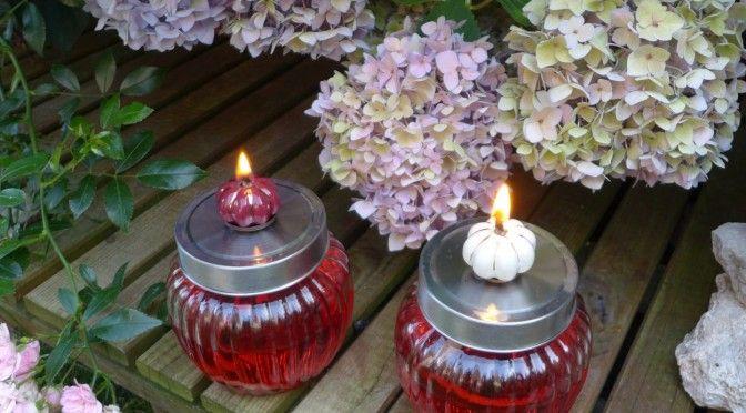 Öllampe für Terrasse oder Garten und als Gastgschenk für Sommerpartys !