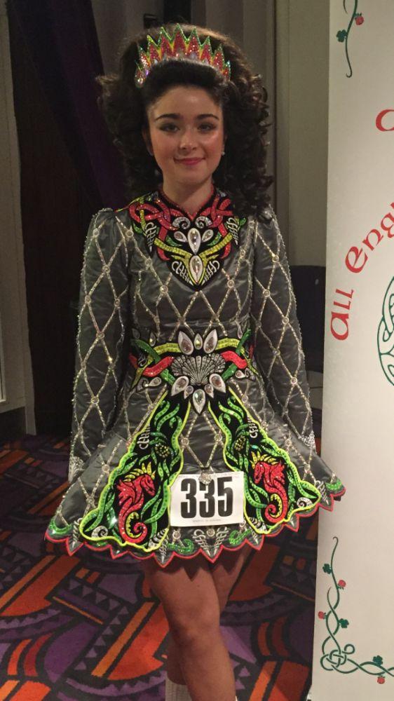 Cute Vicky Anderson Irish Dance Dress Solo Costume For Sale