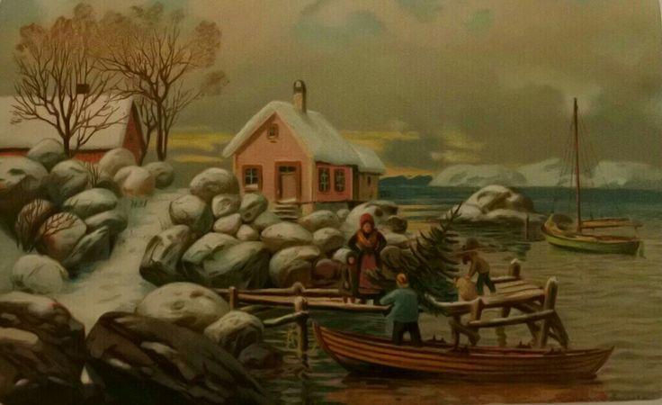 Kunstnerkort Hjalmar Johnssen tidlig 1900-tallet Utg John Fredriksons forlag