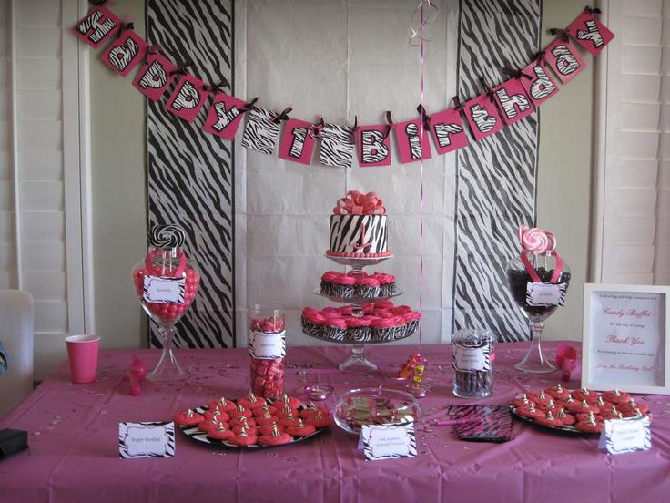and zebra birthday party ideas hot pink and zebra birthday party ideas ...