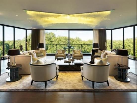 The most expensive and exclusive penthouse apartment, One Hyde Park, overlooking Hyde Park in Knightsbridge, London. Development by Candy and Candy. On sale for £68,000,000 with Aylesford of Chelsea.