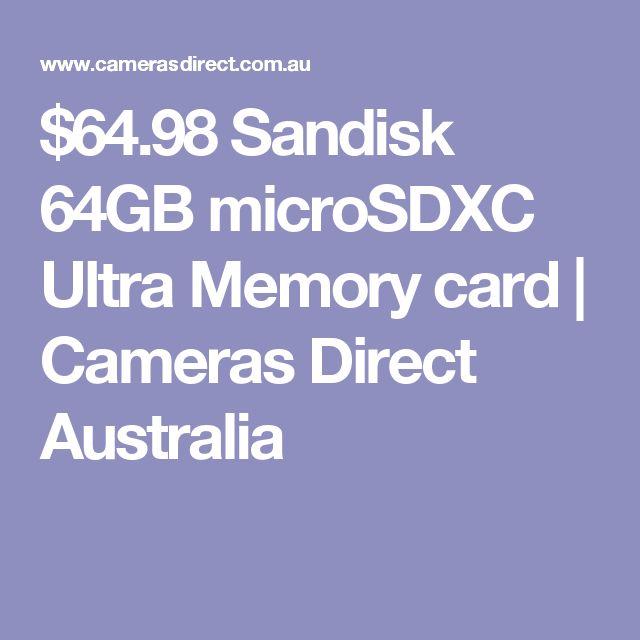 $64.98 Sandisk 64GB microSDXC Ultra Memory card   Cameras Direct Australia