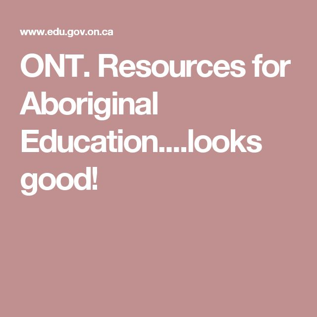 ONT. Resources for Aboriginal Education....looks good!