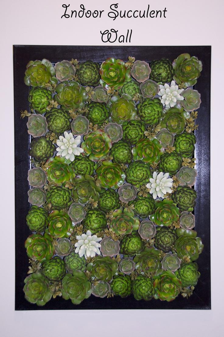 Succulent Wall. Inside Or Outside? Love It!