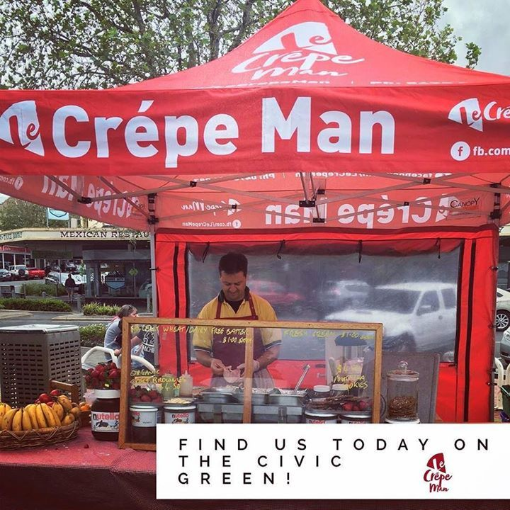 @lecrepeman is on the civic green today. Cooking up delicious crepes to the masses. #eat3280 #destinationwarrnambool #warrnambool #crepes http://ift.tt/2hb9p82