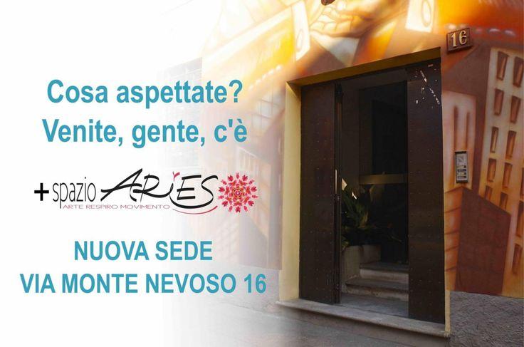 #nuovasede festa di inaugurazione! #viamontenevoso #pilates e #yoga info@spazioaries.it