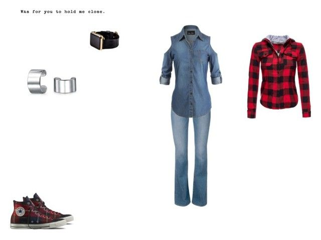 emo girl style.6 by mayleneholm on Polyvore featuring Converse, Hadoro and Bling Jewelry