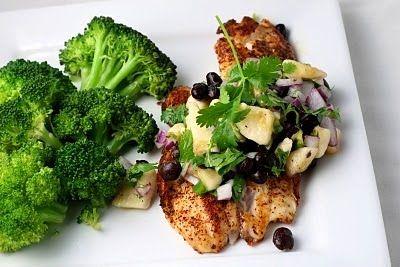 Clean Eating's Chili Rubbed Tilapia with Banana Black Bean Salad » Florida Coastal Cooking