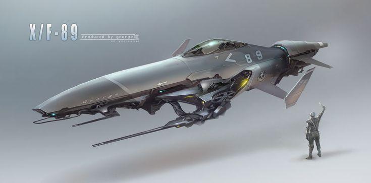 Malý osobní bitevník X/F 89, lidská postava k porovnání.  (c) George 0