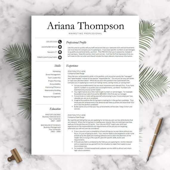 178 best Professional Resume Templates images on Pinterest - change order template