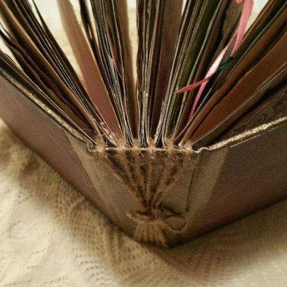 Large Vintage Junk Journal Twine Binding altered by CraftyCrusade