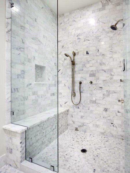 Top 50 der besten Ideen für Duschbänke – Entspannende Designs für Badsitze Top 50 Best Showe…