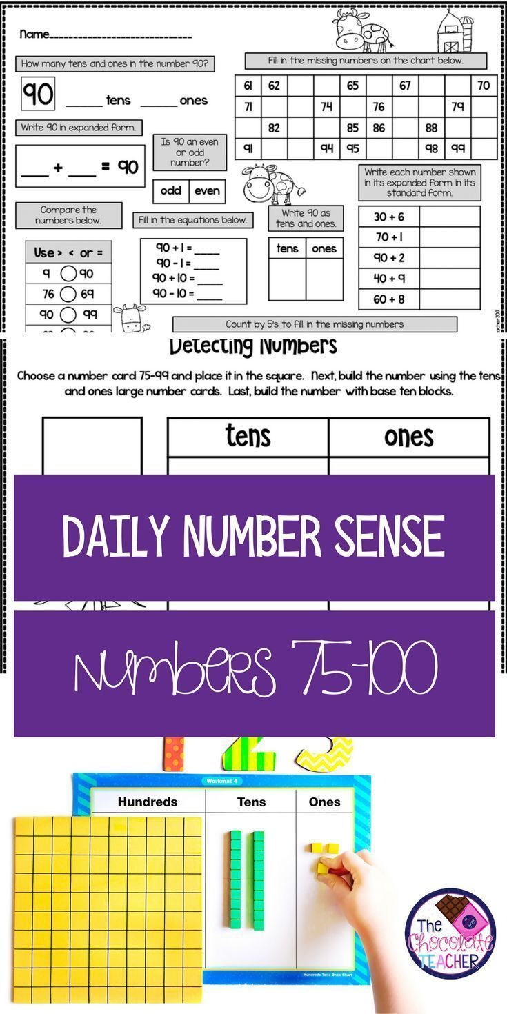 Number Sense Activities Numbers To 100 Month 4 Distance Learning Daily Math Number Sense Worksheets Number Sense