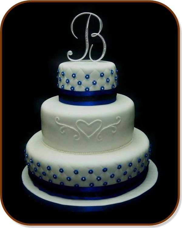 Royal Blue Wedding Cake Ideas: Royal blue square wedding cakes ...