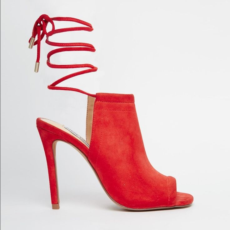 Steve Madden Lace-Up Red Heels