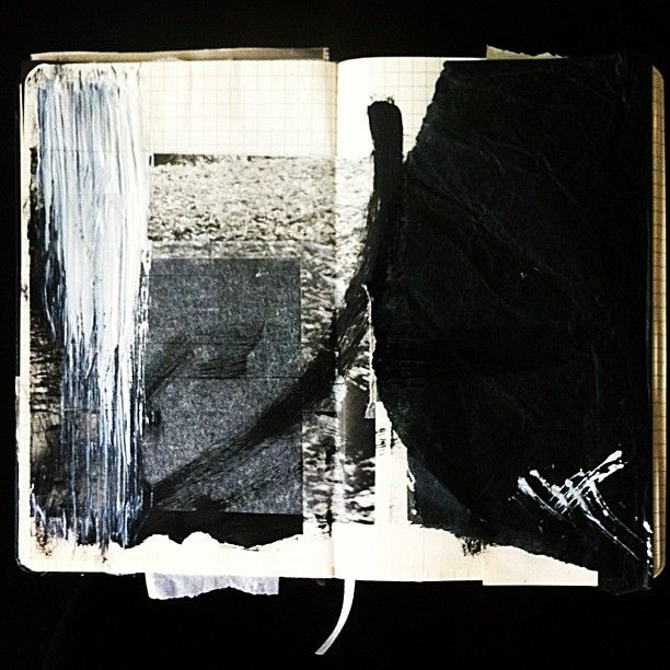 #my #handmade #paper #collage #mixedmedia #abstract #series #darkart #sketchbook /page1   Flickr : partage de photos !