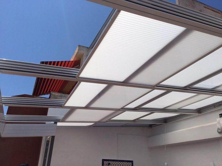 Mejores 24 im genes de techo m vil cristal aluminio y - Techos de aluminio para terrazas ...