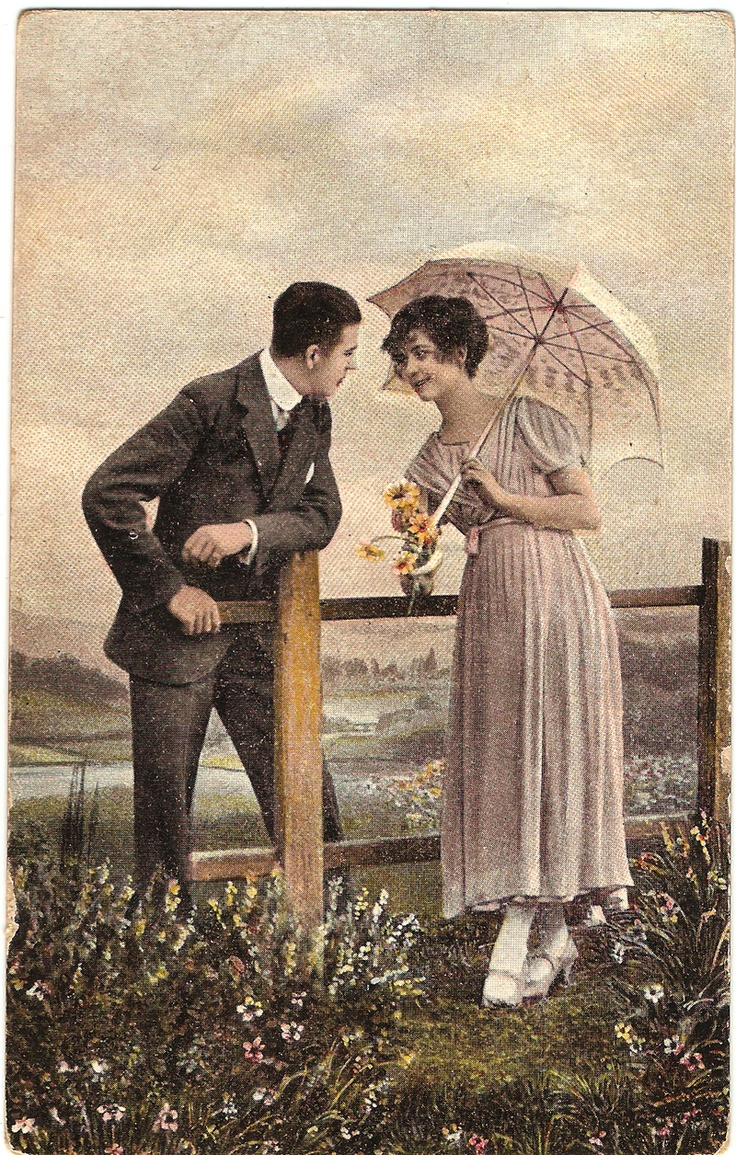hungarian kitschy postcard