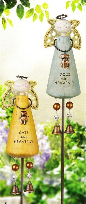 These Angel Pet yard stakes make an eye-catching garden accent with the two ...  kraftykatscuriosityshop.com