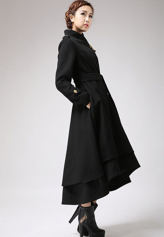 Black Dress With Coat - JacketIn