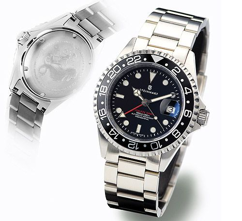 Want a Rolex, but think they are overpriced.  A Rolex is no better than this!  Steinhart GMT-OCEAN 1 BLACK Diver Watch