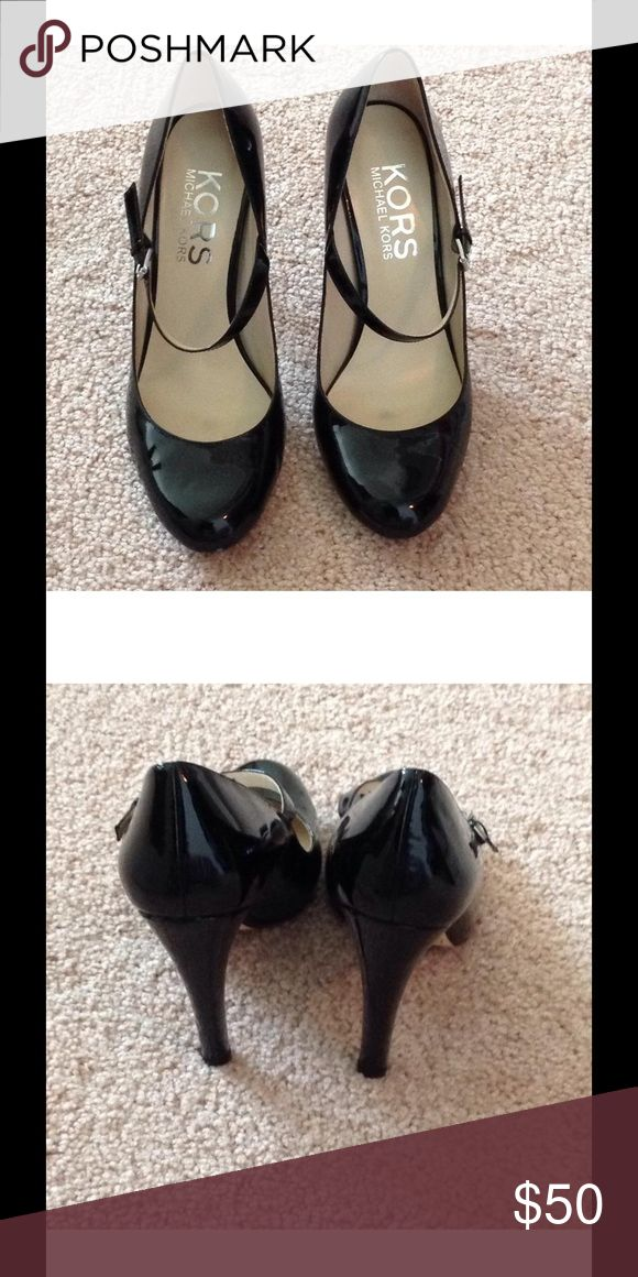 Michael Kors Galli Mary Janes Gently used. Fabulous black patent Mary Janes. Dress up any outfit with these. Michael Kors Shoes Heels