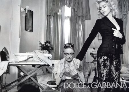 madonna and this old lady for dolce and gabbana.