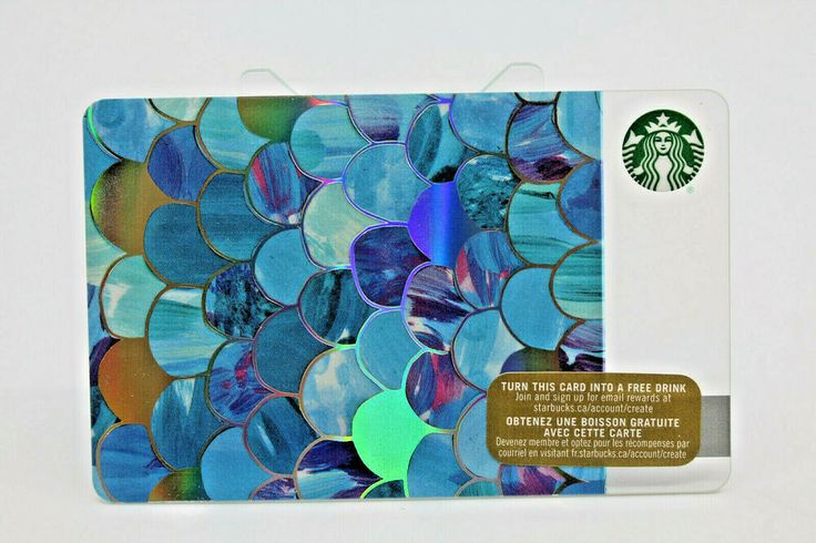 Details about starbucks coffee 2015 gift card mermaid