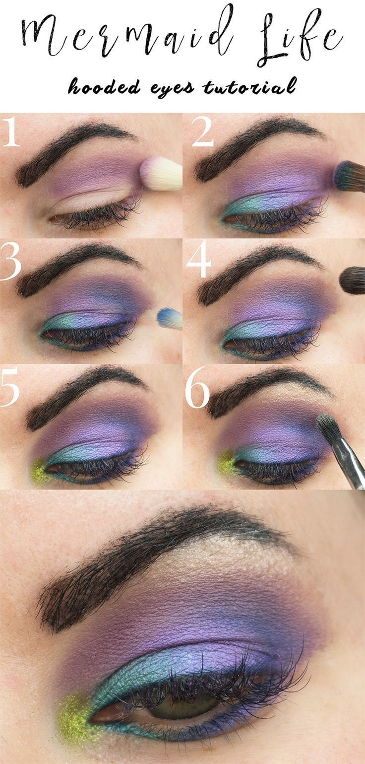 Saucebox Mermaid Life Tutorial - This is a colorful purple makeup look with the Mermaid Life palette. Great for hooded eyes!