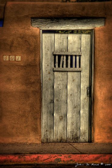A Passageway to the Past--The Doors of Santa Fe 1 by John De Bord 000