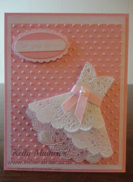Doily Dress card - so cute!