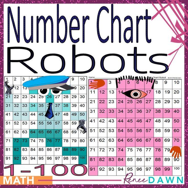 Number Chart Robots 1 – 100