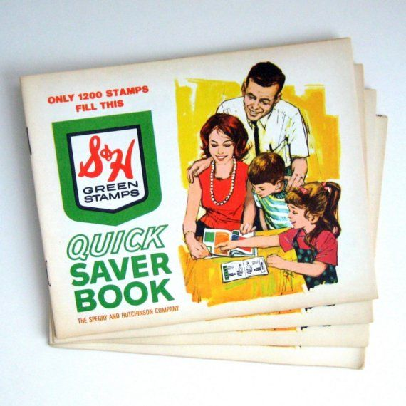 Green Stamps - i loved pasting them in the books! believe it or not, you could get good stuff with these!
