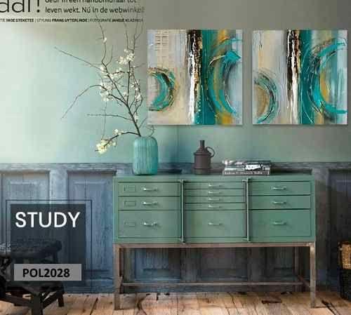 Cuadros Modernos 80x80 Abstractos Tripticos Texturados - $ 2.299,00