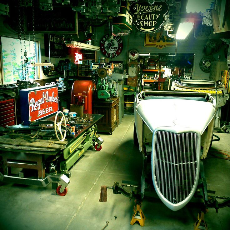 27 Best Images About One Car Garage Plans On Pinterest: 125 Best Hot Rod Garage Images On Pinterest