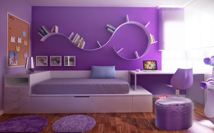 Decoración en color violeta: tonos lilas o morados