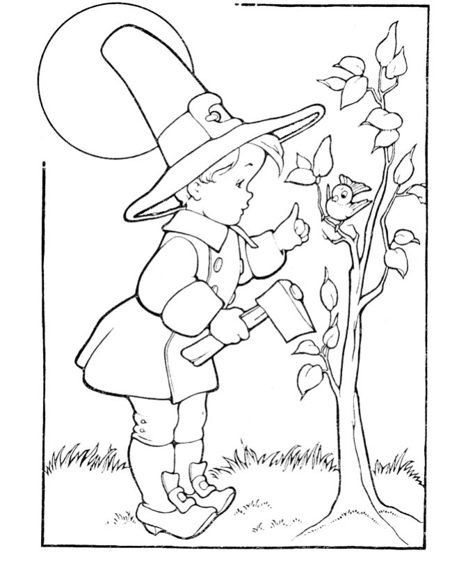 Moms Bookshelf More Printable Thanksgiving Coloring Pages