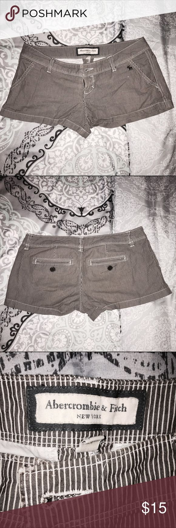 Abercrombie and Fitch striped shorts These shorts have never been worn. They're Abercrombie and Fitch, size 0 but fits a 1 or 2 Abercrombie & Fitch Shorts