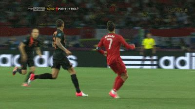 Cristiano Ronaldos outrageous touch & turn (Portugal) v Holland.