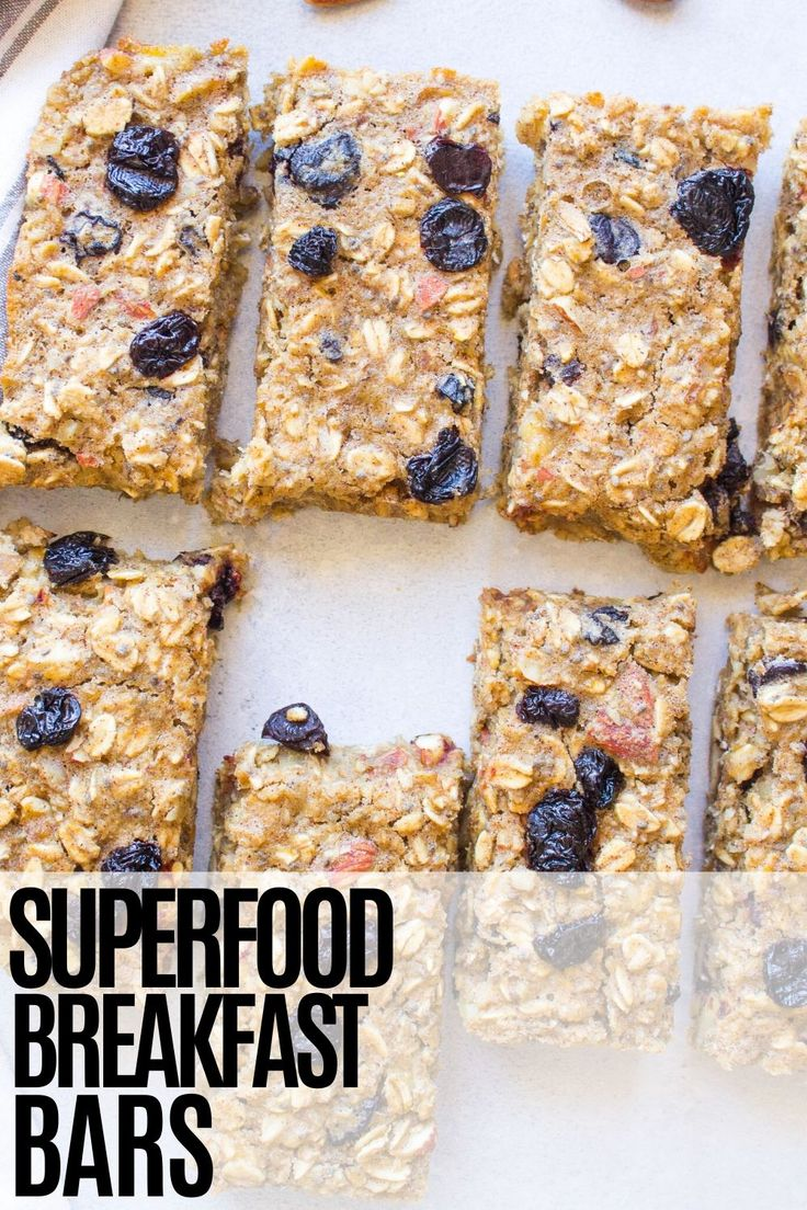 These extremely healthy Superfood Breakfast Bars are packed with all kinds of nutritious ingredients! They make a perfec…