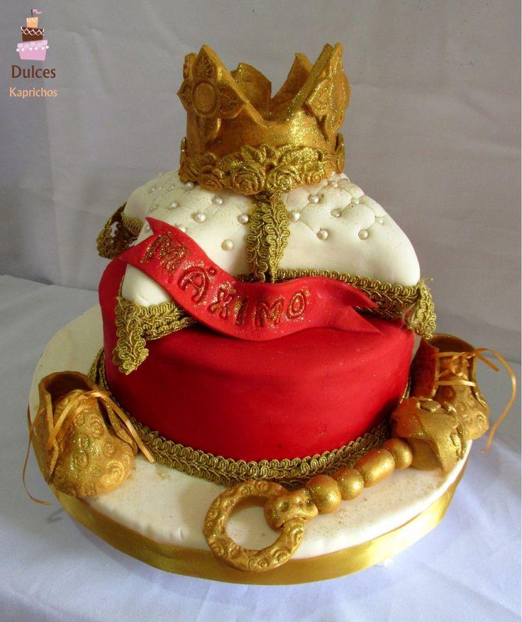 Torta Baby Shower con cojín esculpido #TortaBabyShower #TortasDecoradas